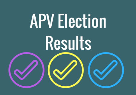 2018 APV Election Results Announced