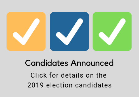 Candidates Announced: Election Opens June 1